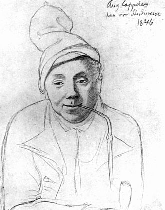 August Cappelen - Portrait sketch by Hans Gude (1846)