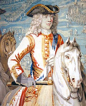Battle of Oudenarde - Duke of Marlborough at Oudenaarde (detail of a tapestry)