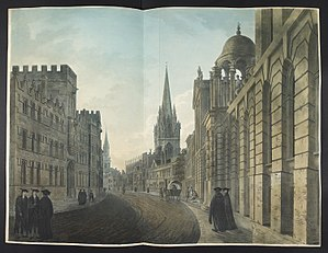 High Street, Oxford (painting) - Image: High Street, Oxford, 1803 (Maps K.Top 34.23.a)