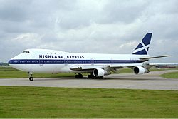 Boeing 747-100 der Highland Express Airways