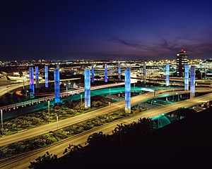 English: LAX. The light towers, first installe...