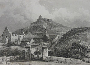 Fortifications of Alderney - Ruined Essex Castle in 1840
