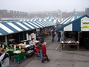 Hitchin Market on a foggy morning - geograph.org.uk - 989953