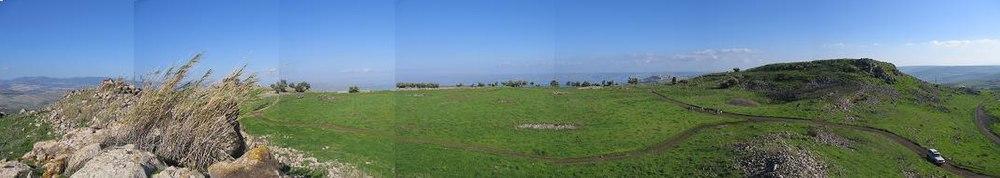 תמונה פנורמית של שדה הקרב במאה ה-21