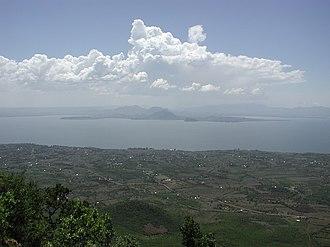 Homa Bay - Homa Bay, on Winam Gulf, Lake Victoria, Kenya; View from atop Mount Homa.