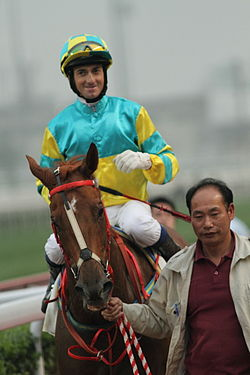 Hong Kong Jockey Douglas Whyte in Sha Tin Racecourse 14 March 2010.JPG