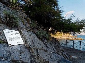 Greg Lake - Marble Plaque engraved for Greg Lake next to Castello Canevaro in Zoagli.