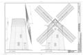 Hook Windmill, North Main Street at Pantigo Road, East Hampton, Suffolk County, NY HAER NY,52-HAMTE,2- (sheet 3 of 6).png