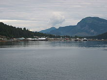 Hoonah,Alaska where a Tlingit tribe is.