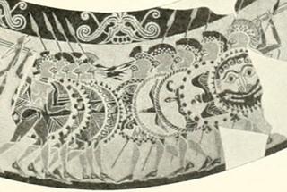 Protocorinthian painted vase