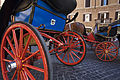 Horse drawn carriages in Piazza Spagna, Rome - 2452.jpg