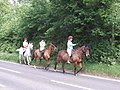 Horse riders turn into Mad Bess Wood - geograph.org.uk - 827723.jpg