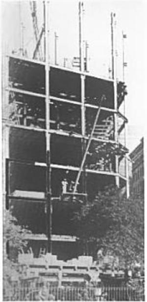 Radisson Hotel Martinique - Construction work at the Hotel Martinique, circa 1910.
