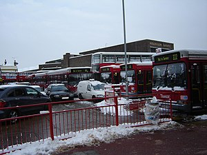 Hounslow - London buses confined to Hounslow bus station during the 2009 snowfall