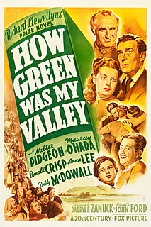 <i>How Green Was My Valley</i> (film) 1941 film by John Ford