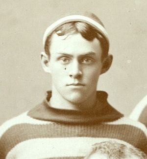 Howard Abbott - Abbott as Michigan's quarterback, 1889