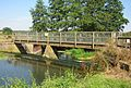 Hoxne weir footbridge