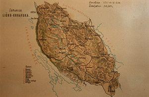 Lika-Krbava County - Old map of Lika-Krbava County