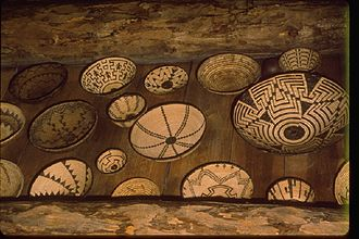 Hubbell Trading Post National Historic Site - Old baskets on the ceiling