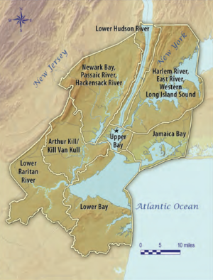 Map Of New York Harbour.Geography Of New York New Jersey Harbor Estuary Wikipedia