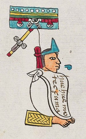 Moctezuma I - Moctezuma I in the Codex Mendoza.