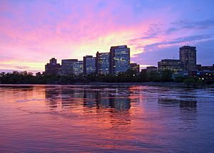 Hull, Quebec - Sunset on the Hull district of Gatineau
