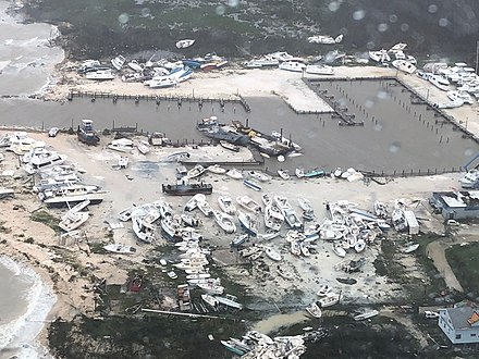 Hurricane Dorian's destruction in the Bahamas Hurricane Dorian destruction -Bahamas.jpg