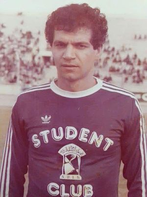 Hussein Saeed - Saeed in a match against Al-Rasheed in 1984–85