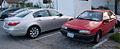 Hyundai Genesis 3.8 and Mitsubishi Precis (US) (5584438076).jpg