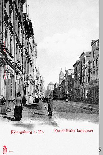 Kneiphof - Postcard of Kneiphöfsche Langgasse