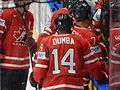 IIHF16WC - Players of Team Canada near their team bench.jpg