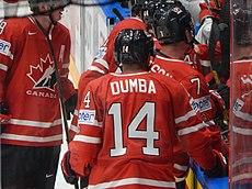 IIHF16WC - Players of Team Canada near their team bench.jpg