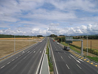 National primary road - Naas Road (N7), non-Motorway high-grade dual carriageway.