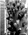IMMIGRANTS FROM GERMANY BEFORE DEBARKATION AT JAFFA PORT. עולים מגרמניה על סיפון אונייה העושה את דרכה לנמל יפו.D420-152.jpg