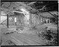 INTERIOR, WORK AREA, LOOKING NORTH - F. E. Booth Company Pier, Bolinas, Marin County, CA HABS CAL,21-BOLI,1-8.tif