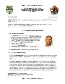 ISN 00893, Talfiq Nassar al-Bihani's Guantanamo detainee assessment.pdf