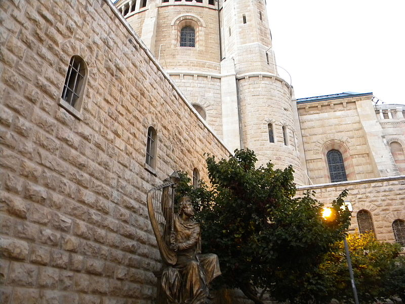 File:ISRAEL, Jerusalem, Mount Zion, King David's tomb; DI is 11-3000-004 (King David's statue).JPG
