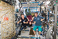 ISS-42 Terry Virts, Samantha Cristoforetti and Anton Shkaplerov in the Destiny lab.jpg
