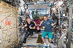 ISS-42 Terry Virts, Samantha Cristoforetti and Anton Shkaplerov in the Destiny lab.jpg