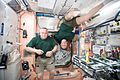 ISS-51 Fyodor Yurchikhin and Jack Fischer take a break in the Unity module.jpg