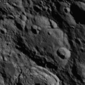 Ibn Firnas (crater) - Oblique Apollo 14 Hasselblad camera image