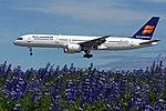 Icelandair Boeing 757-200 on short finals at Keflavik Airport.jpg