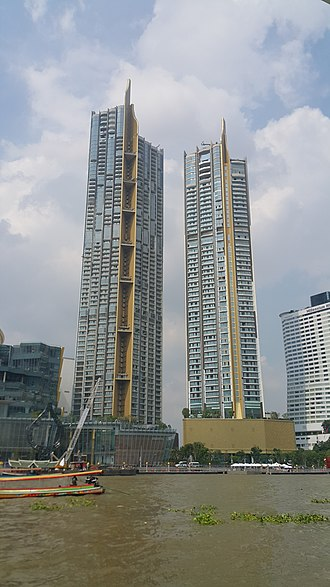 Khlong San District - Magnolias Waterfront Residences at ICONSIAM, the tallest building in Bangkok