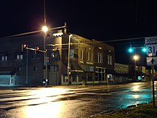 Evening in downtown Lonoke, along Front and Center Streets