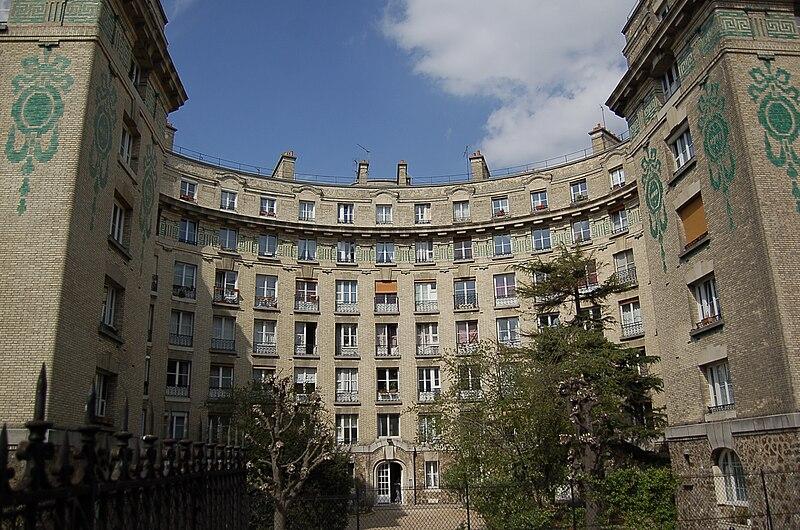 Immeuble d'habitation, 75 rue Pouchet, Paris, 17eme, France