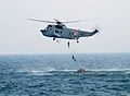 Indian Navy personnel fast roping from a helicopter in 2007.jpg