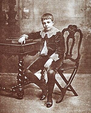 Manuel II of Portugal - Infante D. Manuel, Duke of Beja,  c. 1901, around age 12.
