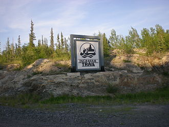 Ingraham Trail - Sign on the trail
