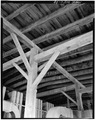 Interior view of framing of 3rd floor ceiling. - Fisher-Fallgatter Mill, Waupaca, Waupaca County, WI HAER WIS,68-WAUP,1-28.tif