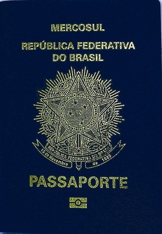Brazilian passport - Image: Interna Folder